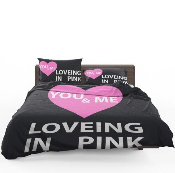 Victoria's Secret VS Loveing in Pink You & Men Bedding Set