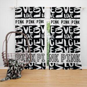 Victoria's Secret Pink Valentine Day Pattern Window Curtain