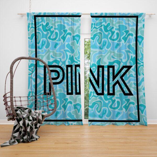 Victoria's Secret Pink Leoperd Pattern Print bedroom décor Window Curtain