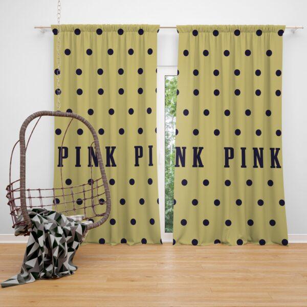 Victoria's Secret Yellow Color Polka Dot Pattern Window Curtain