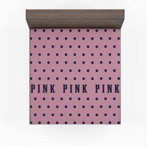 Victoria's Secret Pink Color Polka Dot Pattern Bedding Fitted Sheet