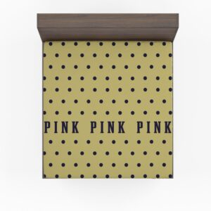 Victoria's Secret Yellow Color Polka Dot Pattern Bedding Fitted Sheet