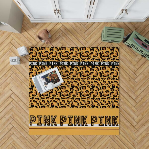 Victoria's Secret Pink Leoperd Pattern Print Floor Rug Mat
