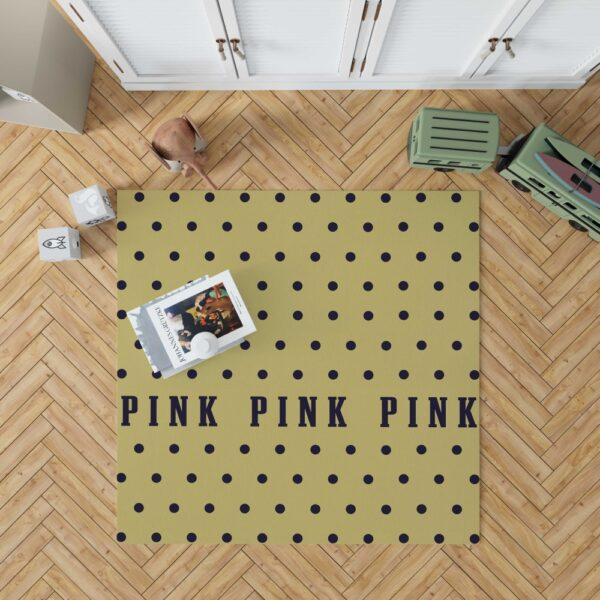 Victoria's Secret Yellow Color Polka Dot Pattern Floor Rug Mat