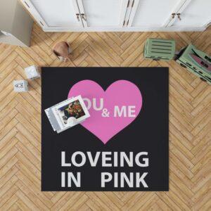 Victoria's Secret VS Loveing in Pink You & Men Floor Rug Mat
