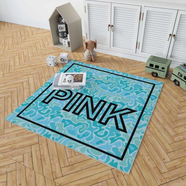 Victoria's Secret Pink Leoperd Pattern Print bedroom décor Floor Rug Mat