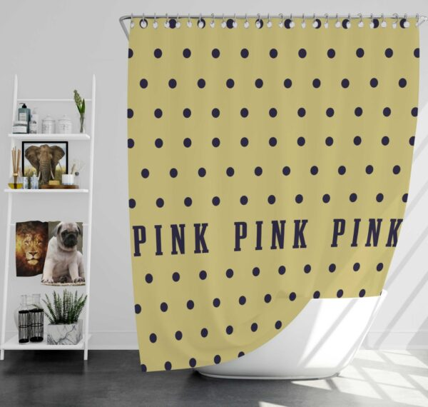 Victoria's Secret Yellow Color Polka Dot Pattern Shower Curtain
