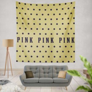 Victoria's Secret Yellow Color Polka Dot Pattern Wall Hanging Tapestry
