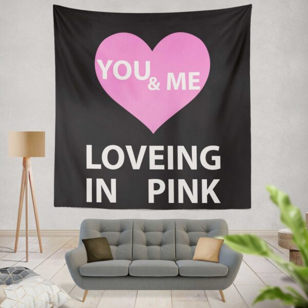 Victoria's Secret VS Loveing in Pink You & Men Wall Hanging Tapestry